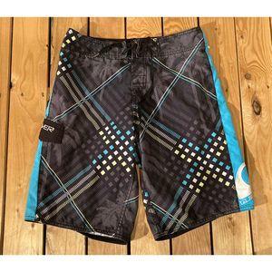 Quicksilver Men's Tie Front Trunks Board Shorts S